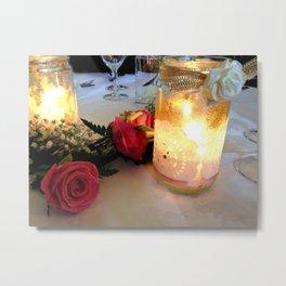 Candles & Roses Metal Print