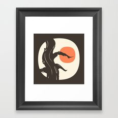 Haunted Framed Art Print