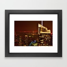 City of Blinding Lights Framed Art Print