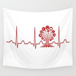 Technology Teacher Heartbeat Wall Tapestry