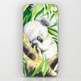 Sleepy baby koala iPhone Skin