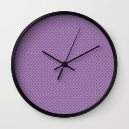 Lavender Purple Scales Pattern Wall Clock