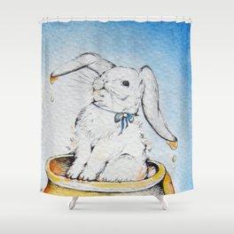 How's The Honey Bunny? Shower Curtain