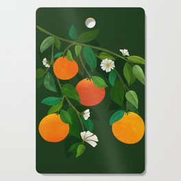 Oranges and Blossoms / Botanical Illustration Cutting Board