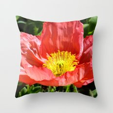 Red Poppy I Throw Pillow