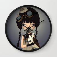 pilot Wall Clocks featuring pilot by Anne  Martwijit