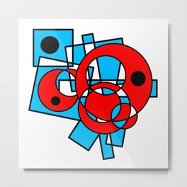 Overlapped Shapes Metal Print