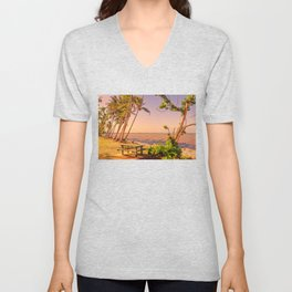 Time for a picnic on a warm tropical day Unisex V-Neck