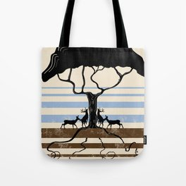 The four Stags of Yggdrasil  Tote Bag