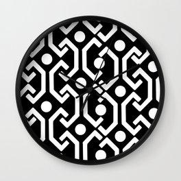 Ethnic Pattern (black) Wall Clock