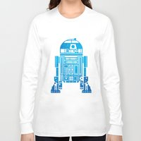 r2d2 Long Sleeve T-shirts featuring R2D2 by Henrik Lund Mikkelsen