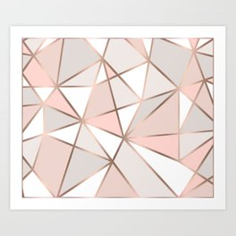 Rose Gold Perseverance Art Print