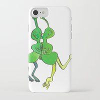 lesbian iPhone & iPod Cases featuring lesbian space alien seeks same by Nehalennia