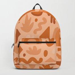 Orange Cutout Print Backpack