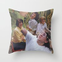 sisters Throw Pillows featuring Sisters by Jon Duci