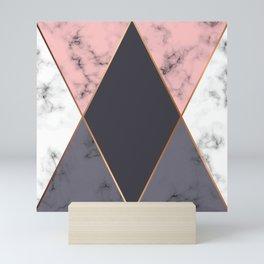 Marble Geometry 018 Mini Art Print