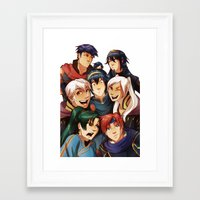 fire emblem Framed Art Prints featuring Fire Emblem Crew by TiuanaRui