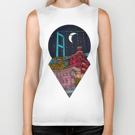 Night carries the lights Biker Tank