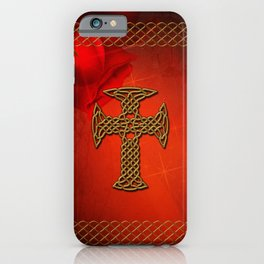 Wonderful celtic cross iPhone Case