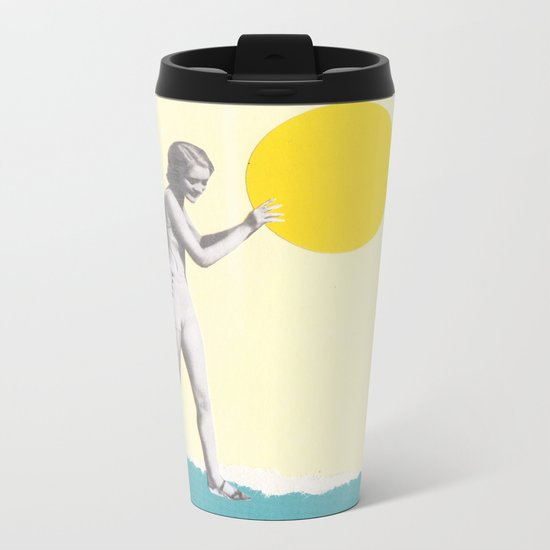 She Caught the Sun Metal Travel Mug