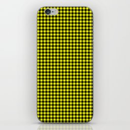Mini Black and Bright Yellow Cowboy Buffalo Check iPhone Skin