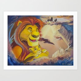 A bridge to Simba Art Print