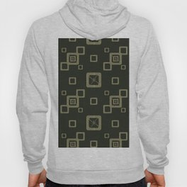 Abstract pattern.Light green squares on a dark green background. Hoody