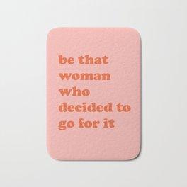 Female Empowerment Entrepreneur Quote Bath Mat