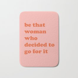 Female Empowerment Entrepreneur Quote Bath Mat