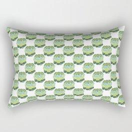 Succulent Wallpaper Rectangular Pillow