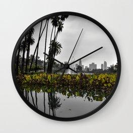 Echo Park Lake Reflection Wall Clock