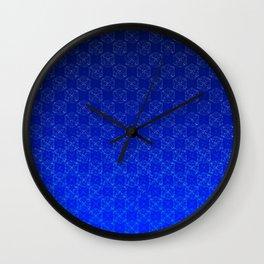 D20 Wizard Crit Pattern Premium Wall Clock