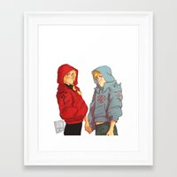 johannathemad Framed Art Prints featuring hoodies by JohannaTheMad