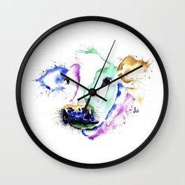 Colourful Cow Wall Clock