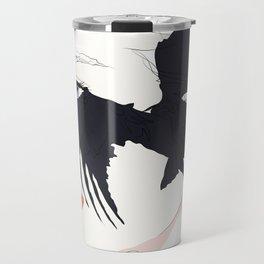 naked_black bird Travel Mug