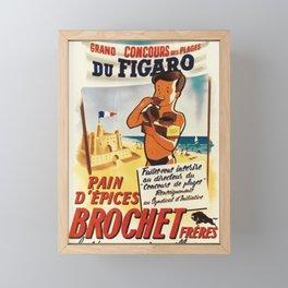 Werbeplakat grand concours des plages du figaro beach Framed Mini Art Print