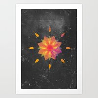tame impala Art Prints featuring Mandala Tame Impala by OEVB