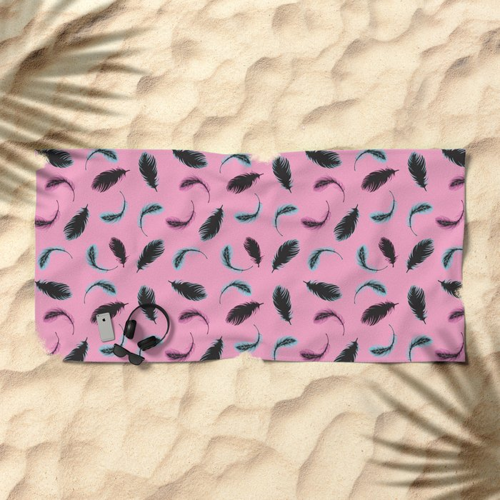 Feathers Forever Beach Towel