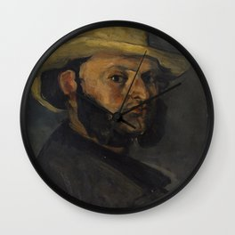 Gustave Boyer in a Straw Hat Wall Clock