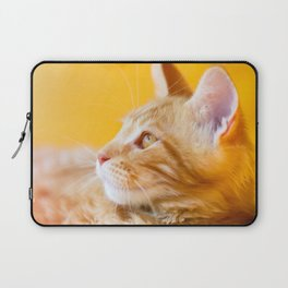 Red-white tabby Maine Coon cat Laptop Sleeve