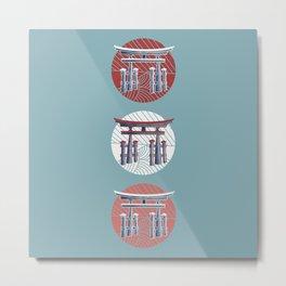 Torii Gates as a vertical ellipsis Metal Print