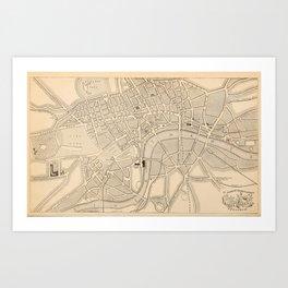 Antique London Map Art Print