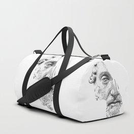 MARCUS AURELIUS ANTONINUS AUGUSTUS / black / white Duffle Bag