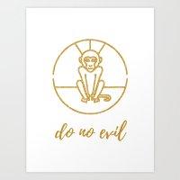 Do No Evil Monkey Art Print