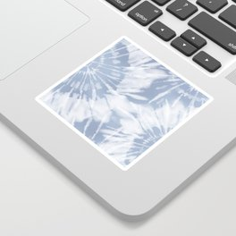 blue grey soft tie dye Sticker