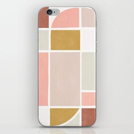 modern abstract shapes print iPhone Skin