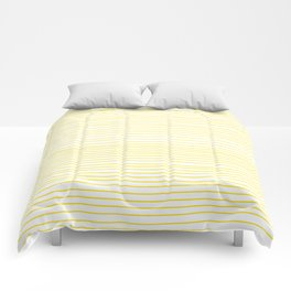 Yellow Striped Handmade Dancing lines Comforters