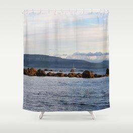 Sail Away On Galway Bay - Ireland Ocean Landscape - Blue Shower Curtain