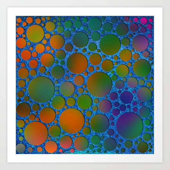 Pattern/Polka dots/6 Art Print