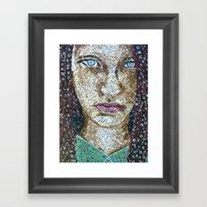 Broken Words - Scrabble Tile Mosaic Framed Art Print